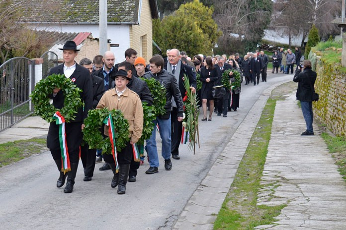 Március 15 ünnepe Csúzán
